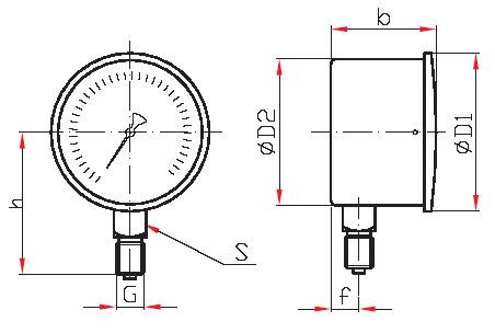 Напоромер КМ-11 - основные размеры