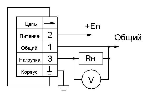 Схема подключения прибора с