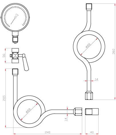 Схема монтажа манометра ТМ-510