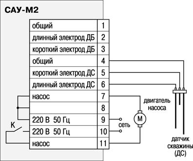 Схема подключения САУ-М2