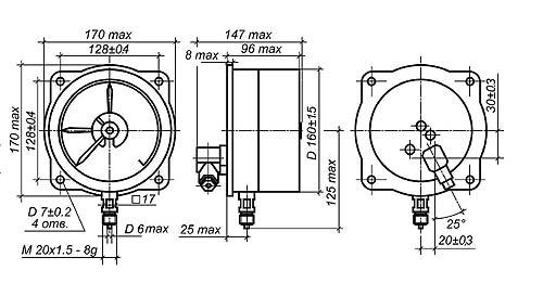 Схема манометров ДВ2005Сг